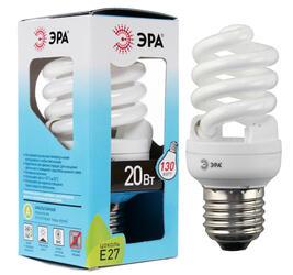 Лампа люминесцентная ЭРА F-SP-20-842-E27