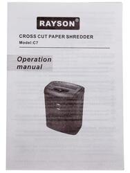 Уничтожитель бумаг Rayson C7