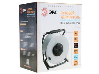 Удлинитель силовой Эра RM-4-3x1.5-30m-IP44 серый