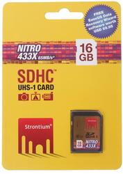 Карта памяти Strontium Nitro SDHC 16 Гб