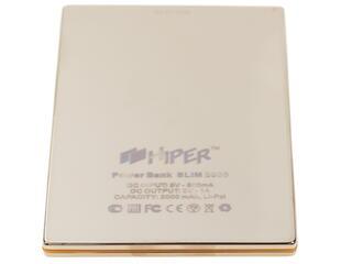Портативный аккумулятор HIPER Power Bank SLIM2000 золотистый