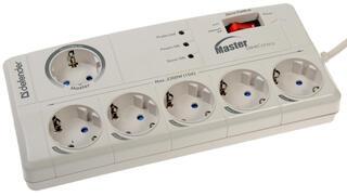 Сетевой фильтр Defender DFS 801 белый