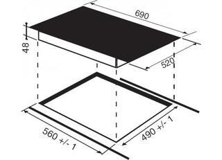 Электрическая варочная поверхность Hotpoint-Ariston KRC 741 D Z