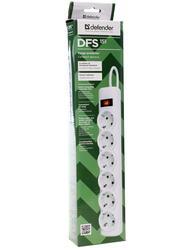 Сетевой фильтр Defender DFS 151 белый