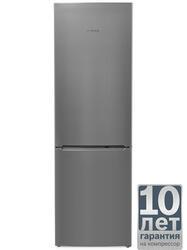 Холодильник с морозильником BOSCH KGN36NL13R серебристый