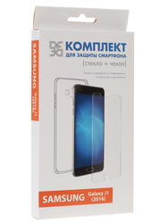 Накладка + защитное стекло  DF для смартфона Samsung Galaxy J1 (2016)