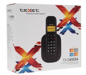 Телефон беспроводной (DECT) teXet TX-D4505A