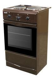Электрическая плита TERRA ЭБЧШ 5-2-3,9-220 00 Br коричневый