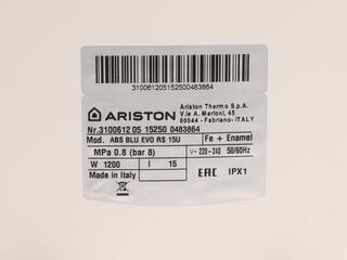 Водонагреватель Ariston ABS BLU EVO RS 15U