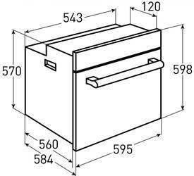 Электрический духовой шкаф Zigmund & Shtain EN 107.611 A