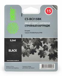 Картридж струйный Cactus CS-BCI15BK