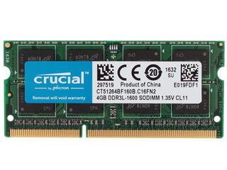 Оперативная память SODIMM Crucial [CT51264BF160B] 4 ГБ