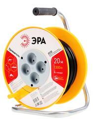 Удлинитель силовой Эра RP-4-2x0.75-20m желтый, черный