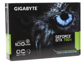 Видеокарта GIGABYTE GeForce GTX 750 Ti [GV-N75TOC-1GI]