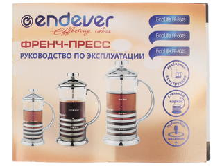 Френч-пресс Endever EcoLife FP-804s серебристый