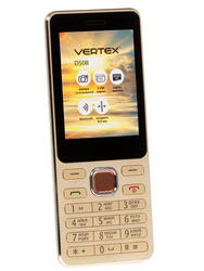 Сотовый телефон Vertex D508 золотистый