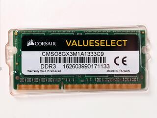 Оперативная память SODIMM Corsair [CMSO8GX3M1A1333C9] 8 ГБ