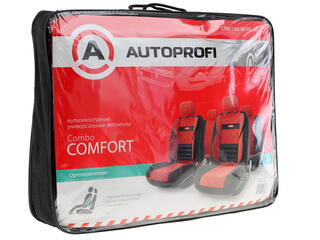 Чехлы на сиденье AUTOPROFI COMFORT COMBO CMB-1105 красный