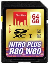 Карта памяти Strontium Nitro Plus SDXC 64 Гб