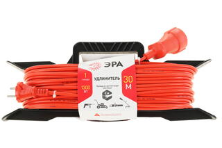 Удлинитель силовой ЭРА UF-1-2x0.75-30m оранжевый