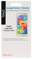 """4.5"""" Защитное стекло для смартфона Tele2 midi"""