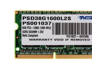 Оперативная память SODIMM Patriot Memory PSD38G1600L2S 8 ГБ