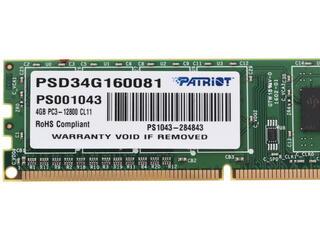 Оперативная память Patriot Signature [PSD34G160081] 4 ГБ