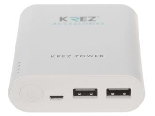 Портативный аккумулятор KREZ LP1000122AW белый