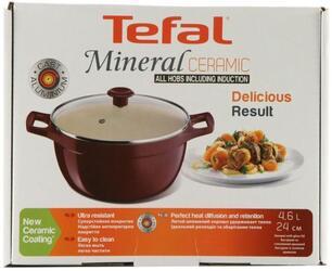 Кастрюля Tefal C7494654 Mineral Ceramic красный