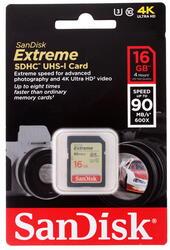 Карта памяти SanDisk EXTREME SDHC 16 Гб