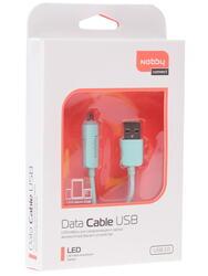 Кабель Nobby 7739 USB - micro USB голубой