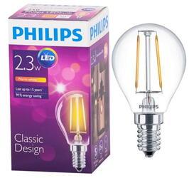 Лампа светодиодная Philips LED Fila 2.3-25W E14 WW P45 ND 1CT