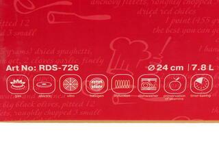 Кастрюля Rondell RDS-726 Admiring серебристый