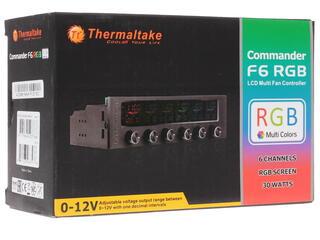 Регулятор оборотов Thermaltake Commander F6 черный