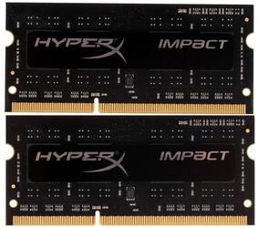 Оперативная память SODIMM Kingston HyperX Impact [HX318LS11IBK2/8] 8 Гб