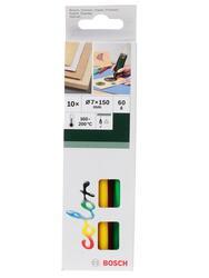 Стержни клеевые Bosch 2609256D30 желтый, черный, красный, зеленый