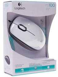 Мышь проводная Logitech M100