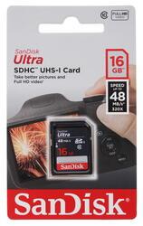 Карта памяти Sandisk ULTRA SDHC 16 Гб