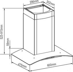 Вытяжка каминная Zigmund & Shtain K 246.61 S черный