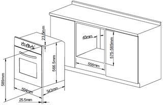 Электрический духовой шкаф Pyramida F 84 SAND
