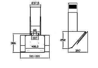 Вытяжка каминная Zigmund & Shtain K 221.61 W белый