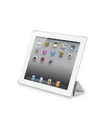Чехол-подставка Ultra Cover leather и защитная пленка для Apple iPad 2/ iPad new/ iPad 4, белый, Deppa