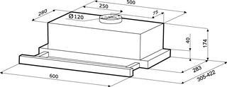 Вытяжка полновстраиваемая Kronasteel Kamilla Sensor 600 серебристый