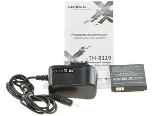 Сотовый телефон Texet TM-B119 черный