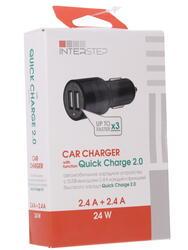 Автомобильное зарядное устройство INTERSTEP IS-CC-2USB2QCRT-000B201
