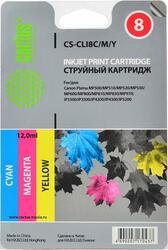 Картридж струйный Cactus СS-CLI8C/M/Y