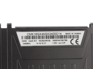 Оперативная память Corsair Vengeance LPX  [CMK16GX4M2A2400C14] 16 ГБ