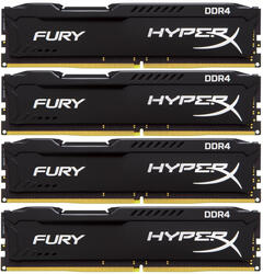 Оперативная память Kingston HyperX FURY Black Series [HX421C14FB2K4/32] 32 ГБ