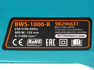 Углошлифовальная машина Bort BWS-1000-R