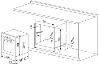 Электрический духовой шкаф Pyramida F 64 BLACK SSF (70)